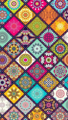 Beautiful Dot Art and Floral Mandala Pattern Art and with Such Great Colors! Mandala Wallpaper, Pink Wallpaper, Colorful Wallpaper, Flower Wallpaper, Cool Wallpaper, Pattern Wallpaper, Wallpaper Backgrounds, Iphone Wallpaper, Mobile Wallpaper