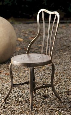 Metal chair.