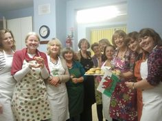 WI@County Hall, Pembrokeshire, share their scones after the WI Life workplace WIs photoshoot. Yum!
