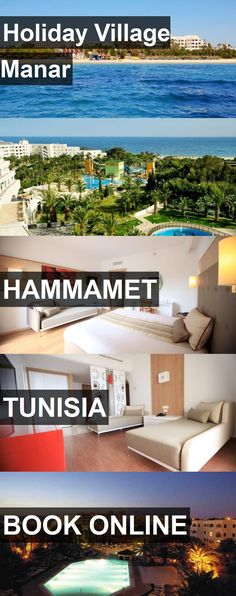 Hotel Holiday Village Manar in Hammamet, Tunisia. For more information, photos, reviews and best prices please follow the link. #Tunisia #Hammamet #hotel #travel #vacation
