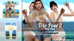 Trio Pose Pack 2 at ConceptDesign97 via Sims 4 Updates