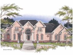 Eplans New American House Plan - Game Room Over the Three-Car Garage - 4935 Square Feet and 4 Bedrooms from Eplans - House Plan Code HWEPL01243