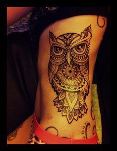 Owltattoo Owl Tattoo Rib Ribbs Fine Art Dotwork Finelines Tattoodagmar Dagmartattoo Dotting Magdalena Blackwork Fineline  Tattoo Masterpiece !