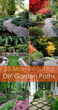 Ultimate collection of 25 most beautiful & DIY friendly garden path ideas and very helpful resources from a professional landscape designer! via A Piece Of Rainbow Blog