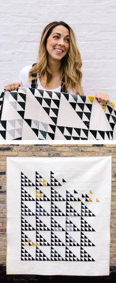 Fly Away Quilt Pattern digital download by Suzy Quilts. A simple modern quilt pattern based on a traditional quilt block