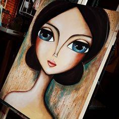 No se cual será su nombre... Pero la miro y siento fortaleza... siento lo que no pudo ser... lo que no pudo mostrar y decir... MUJER, que sólo cumplias el rol de ser para los demás... . .⭐ROMI LERDA - espacio de arte⭐ 473 bis n° 246 Loc. 2 City Bell . ✔Envíos a todo el país.  Consultas por mensaje privado o a rominaler@gmail.com #romilerdaespaciodearte #romilerdart #arte #mujeresdelmundo #mujeres #love #amoralarte #decoraxion #deco #home #mujeresdelzodiaco #colorterapia #namaste #woman #arte…