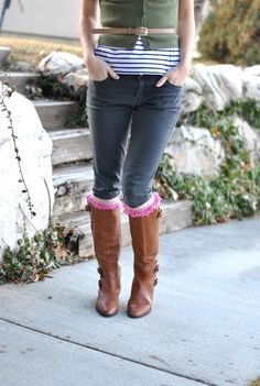 As promised – sweet little boot socks tutorial   The Bungalow Boutique