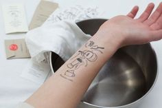 Don't Want to Get Your Cookbook Dirty? Temporary Recipe Tattoos Are the Answer | The Kitchn