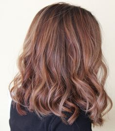 Long Bob, highlights, lowlights, balayage