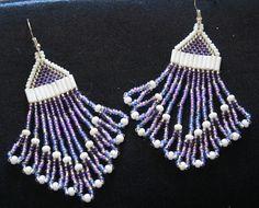 Hand Beaded earrings made in the Yukon, Canada.