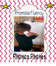 Use Phonics Phones to help with fluency.  Here are some center activities to use with phonics phones.