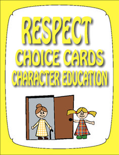 Respect is an important social skill for students to learn to enable successful relationships at school, at home, and in the community. Included are 30 choice cards which help students learn to identify respectful behavior.  Also included is a list of ways to use the cards in the classroom setting.  There are an additional 6 blank cards for you to add scenarios which would benefit your particular students.