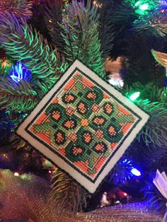 This ornament is stitched from a chart in the Celtic Series available from Frony Ritter Designs.