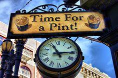 Pub Sign and clock