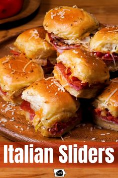These Italian Sliders will be a touchdown at your next tailgate! These Italian Sliders will be a touchdown at your next tailgate! Easy Tailgate Food, Tailgating Recipes, Slider Sandwiches, Tailgate Sandwiches, Baked Sandwiches, Delicious Sandwiches, Appetizer Recipes, Appetizers, Great Recipes