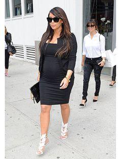 Celebrity Maternity Style Celebrity Pregnancy Fashion Real Beauty Kimk Kardashian