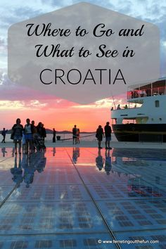 Places to visit: Dubrovnik, Split, Plitvice Lakes National Park & Krka…