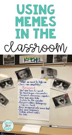 Use memes in the classroom as a teaching or learning tool. Students will love creating memes to share their learning. Ela Classroom, Middle School Classroom, Classroom Community, Classroom Language, Google Classroom, Classroom Ideas, Future Classroom, Inquiry Based Learning, Learning Tools