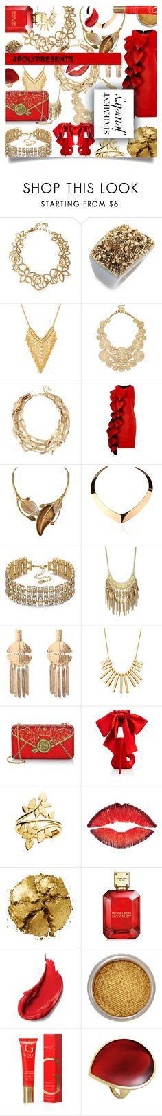"""#PolyPresents: Statement Jewelry"" by ezgi-g ❤ liked on Polyvore featuring Oscar de la Renta, NAKAMOL, Everlasting Gold, Sole Society, Robert Lee Morris, River Island, Lipsy, Saks Fifth Avenue, BERRICLE and Judith Leiber"