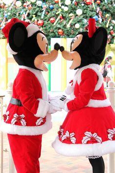 Disney Meet & Greet: Mickey and Minnie - Christmas Time Parc Disneyland, Disneyland Christmas, Disney World Christmas, Mickey Christmas, Disney Holidays, Christmas Time, Walt Disney, Disney Love, Disney Magic