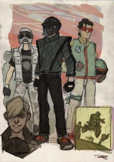 Star Wars Characters as '80s High Schoolers: Darth Vader, Boba Fett, and a Stormtrooper