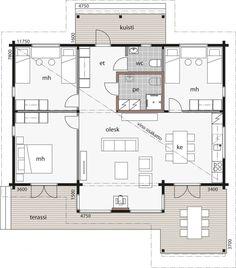 Kontio Lehtisaari -mallit ovat upeita ja käytännöllisiä lomaasuntoja, jotka luovat ensiluokkaiset puitteet koko perheen viihtymiselle. Mamma, House Plans, Floor Plans, Flooring, Dreams, How To Plan, Architecture, Plants, Houses