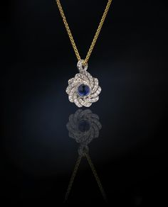 Revealed. The Creation Pendant Diamond and Sapphire from Andrew Geoghegan