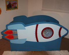 Items similar to Children's Rocketship Bed on Etsy