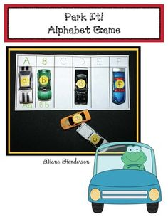 "Free Alphabet Activities: ""Park It!"" An Alphabet Matching Game Preschool Literacy, Early Literacy, Preschool Centers, Phonics Reading, Kindergarten Reading, Letter Matching, Matching Games, Alphabet Activities, Teaching Activities"