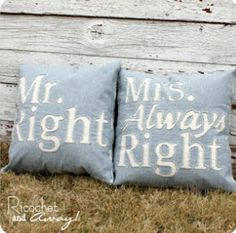 If these were in our house they would say Mrs. Sometimes Right and Mr. Always Right cause my hubby thinks he is always right!! It's the Cona way!!!