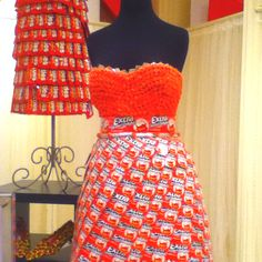 Gum wrapper dress
