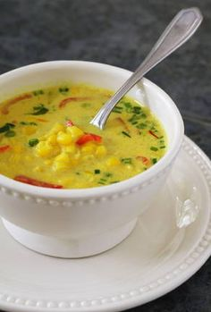thai-cocos-corn soup (vegetrian)