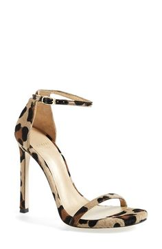 Free shipping and returns on Stuart Weitzman 'Nudist' Sandal (Women) at Nordstrom.com. Subtle texture lends depth and luster to a minimalist sandal topped by a slender, delicate ankle strap. <br><br>Stuart Weitzman shoes are favorites among editors, stylists and celebrities – and it's no wonder. Each Stuart Weitzman shoe is crafted in Spain with a keen attention to detail and made to feel as great as it looks.