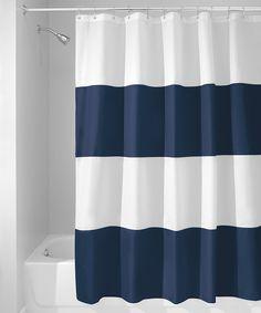 Love this Navy & White Zeno Shower Curtain by InterDesign on #zulily! #zulilyfinds