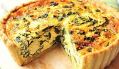 IOLMobile: Recipe: Spinach and Feta Quiche Spinach Feta Quiche, Spinach Tart, Creamed Spinach, Frittata, Quiche Tart Recipe, Quiche Recipes, Spinach Recipes, Light Recipes, Wine Recipes