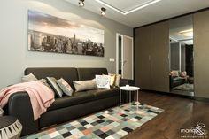 Mieszkanie w stylu nowoczesnym projektu Mango Studio - PLN Design