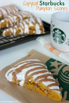 CopyCat Starbucks Pumpkin Scones Recipe. Save on your fall Starbucks addiction and make this delish copycat recipe at home!