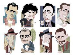 The Beats: Jack Kerouac, Gregory Corso, Herbert Huncke, Neal Cassady, William S. Burroughs, Allen Ginsberg, Lawrence Ferlinghetti, and Gary Snyder  http://thrdgll.tripod.com/beats.htm