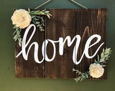 Home Decoration With Curtains Code: 1744511850 Shabby Vintage, Handmade Wedding Gifts, Chalk Design, Barn Wood Crafts, Heart Wall Art, Sola Wood Flowers, Scrap Wood Projects, Diy Wood Signs, Home Decor Signs