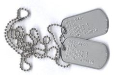 Metal dog tags have been around for quite a while, and have been used mostly by military personnel for identification purposes. Did you know that you can actually have your own tags customized for your own purposes? Veterans Day Poem, High School Rings, Queen Of The South, Airbrush Tattoo, Dog Tags Military, Military Fashion, Military Style, School Spirit, Dog Tag Necklace