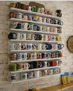 Coffee cup wall.. Tea cup wall would be super cute!