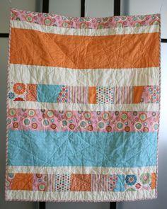 random straight line machine stitching - love this idea def will try it one day!