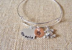 Handstamped Bangle Bracelet Dog Lover Bracelet by beadhobby