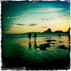 Sunset surf, Tofino