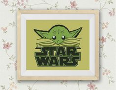 BOGO FREE! Yoda, Star Wars Cross Stitch Pattern StarWars Needlecraft Embroidery Star Wars Yoda Book Needlework PDF Instant Download #002-11 by StitchLine on Etsy https://www.etsy.com/listing/241943273/bogo-free-yoda-star-wars-cross-stitch