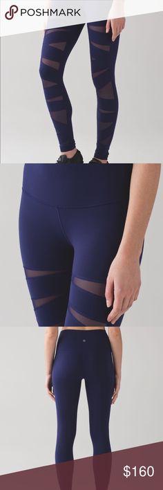 Lululemon tech mesh leggings Dark navy mesh Lululemon full length leggings. Smoke free home. Excellent condition. lululemon athletica Pants Leggings