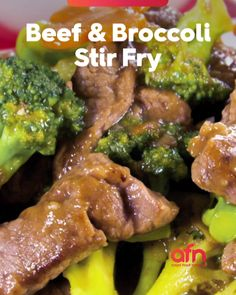 My ultimate fave! Chinese Beef Recipes, Asian Recipes, Healthy Recipes, Beef Broccoli Stir Fry, Food Network Recipes, Cooking Recipes, Everyday Food, Savoury Dishes, Chinese Style