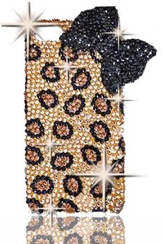 IPHN5 HOT HOT HOT BIG BLING LEOPARD Crystal & Rhinestone Bow Knot 3d Handmade Iphone 5 case/cover by Jersey Bling:Amazon:Cell Phones & Accessories