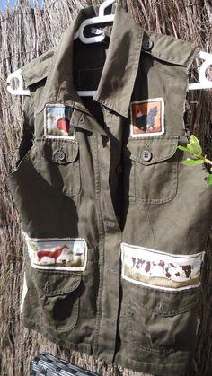 Veste country farm sans manche : Manteau, Blouson, veste par annbcreation