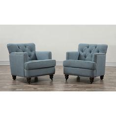 TOV Furniture Felicity Lagoon Linen Chair TOV-C17B